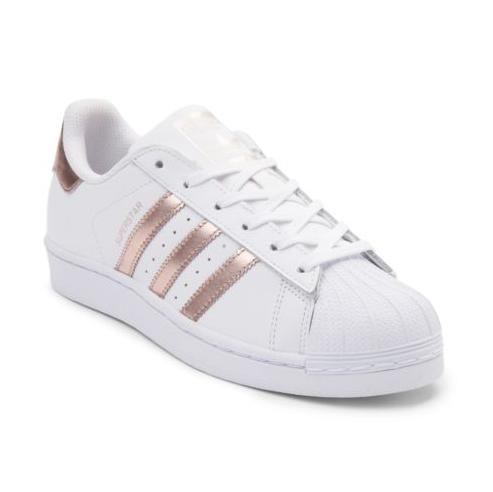 New adidas Superstar Shoe White Rose Gold WOMENS Classics Originals