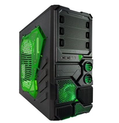 Apevia X-SNIPER2-GN ATX Mid Tower Gaming Case