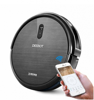 ECOVACS DEEBOT N79 Robotic Vacuum Cleaner with Strong Suction, for Low-pile Carpet, Hard floor, Wi-Fi Connected