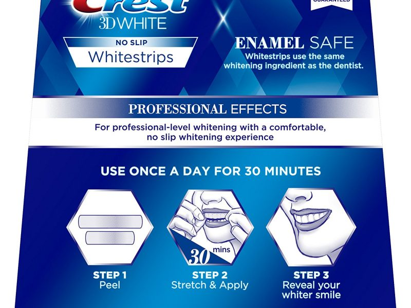 Crest 3D White Professional Effects Whitestrips Dental Teeth Whitening Strips Kit, 20 Treatments - Lasts 12 Months & Beyond