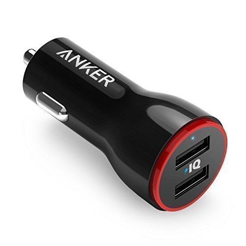 Bộ sạc xe hơi kép Anker 24W, PowerDrive 2 cho iPhone X / 8/7 / 6s / Plus, Máy tính xách tay Pro / Air 2 / mini, Galaxy S7 / S6 / Edge / Plus, Lưu ý 5/4, LG, Nexus, HTC