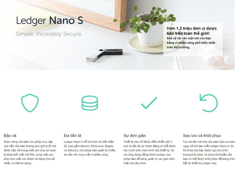 ví tiền Ledger Nano S