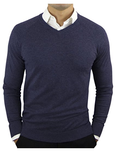 Comfortably Collared Men's Perfect Slim Fit V-Neck Sweater