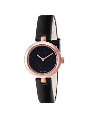 Gucci Diamantissima Analog Display Swiss Quartz Black Women's Watch