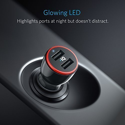 Bộ sạc xe hơi kép Anker 24W, PowerDrive 2 cho iPhone X / 8/7 / 6s / Plus, Máy tính xách tay Pro / Air 2 / mini, Galaxy S7 / S6 / Edge / Plus,